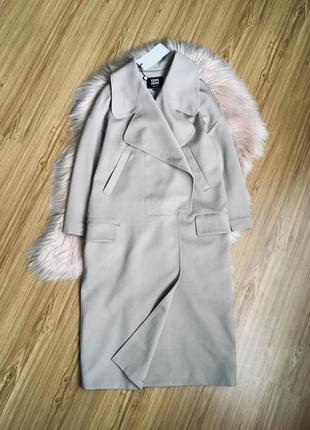 Актуальное беж пальто на магнитных кнопках vero moda