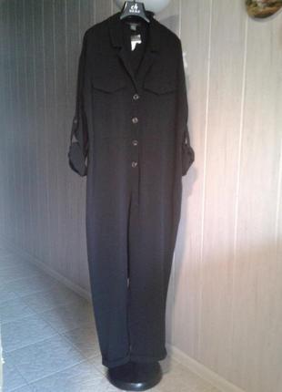 Стильный комбинезон с брюками модного свободного кроя размер 16-18