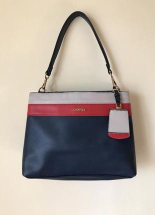 Сумка сумочка на плечо на шлейке темно синяя carpisa zara h&m