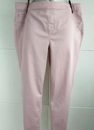 Стильные и ультракомфортные джинсы-джеггинсы george розового цвета.