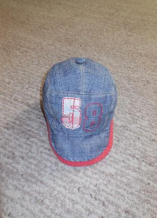 Джинсовая кепка на ог 42-44 см.