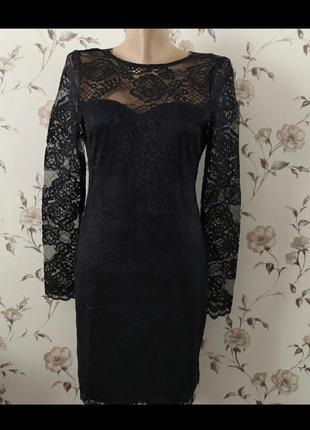 Шикарное вечернее платье черного цвета h&m