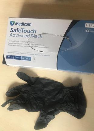 Перчатки нитриловые текстурированые, нестерильные