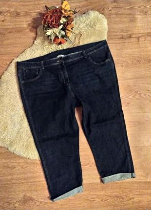 Мегакласні капрі-стрейч (укорочені джинси) george. розмір батал - 22/50 (наш 56-56)