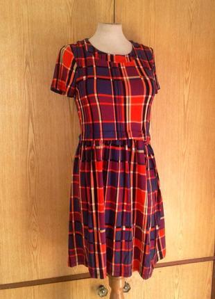 Вискозное яркое платье, xs-l.