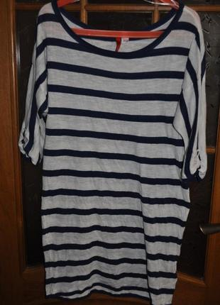 Хлопковое платье туника h&m