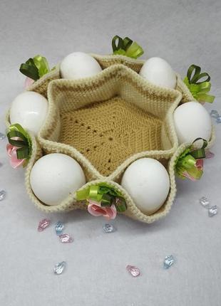 Корзинка для яиц ручной работы ❤️