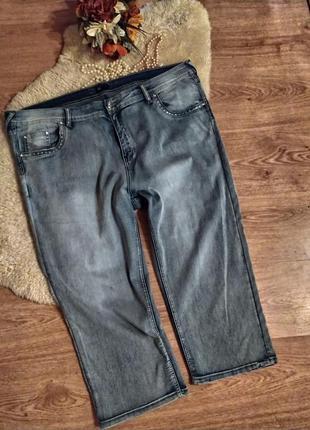 Мегакласні стильні капрі (укорочені джинси) laura torelli (італія!) стрази, наш 56-58