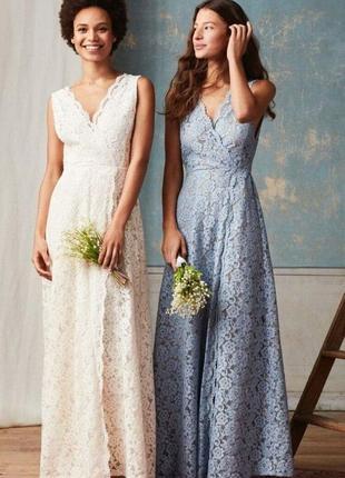 Народное белое платье h&m