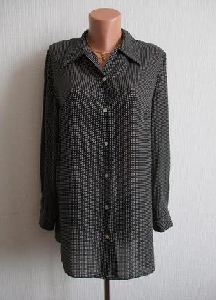 Sale -50%! удлиненная блузка в мелкий принт essence