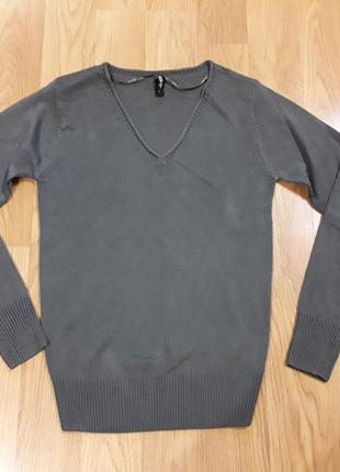 Пуловер свитер джемпер серый размер s takko