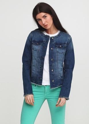 Темно-синяя демисезонная куртка tom tailor