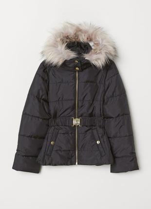 Куртка для девочки h&m рост 170 черная 58773