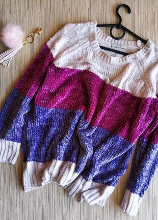 Шикарный плюшевый мягкий свитер из синели