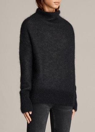Шерстяной свитер/ светр шерсть з високим горлом  all saints - m