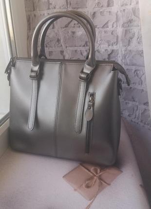 Кожаная женская сумка жіноча шкіряна сумочка