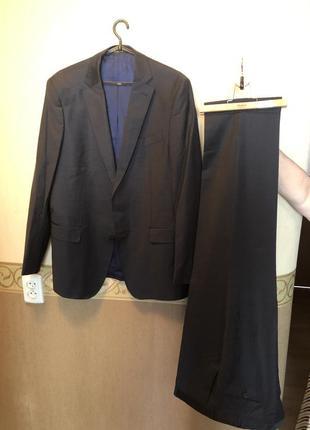"""Супер костюм, италия """"emilio guido"""", в нежную серую клеточку"""