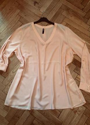 Блузка удлиненная,рубашка,туника maxi blue