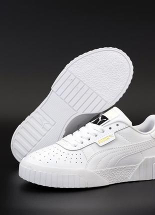 Puma cali white белые ♦ мужские кроссовки ♦ весна лето осень