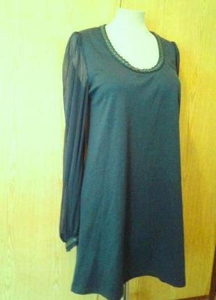 Красивое зеленое платье - туника,l.