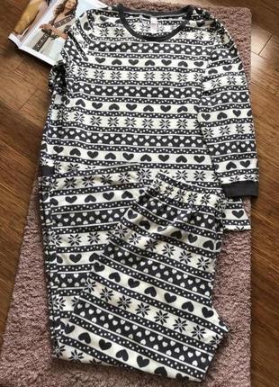 Флисовая пижама, большой размер