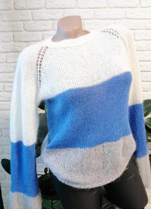 Шикарный свитер в полоску