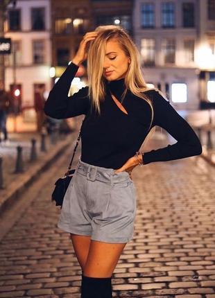 Zara новая коллекция! шорты под замш