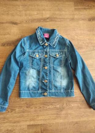 Куртка джинсовая на 7-8лет джинсовка пиджак