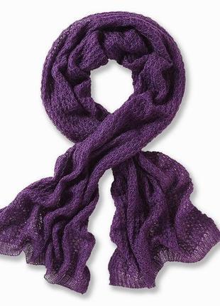 Мягкая воздушная шаль-шарф паутника с люрексом tcm tchibo, германия