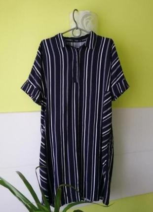 Платье рубашка из вискозы mango