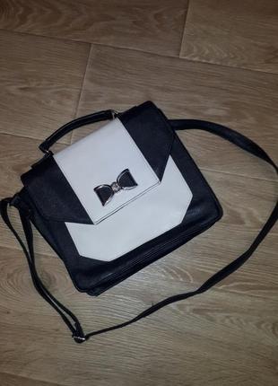 Сумка сумочка с бантиком  портфель atmosphere с длинной ручкой