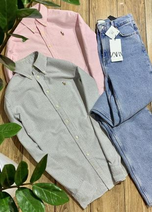 Оригинальная рубашка хлопковая ralph lauren