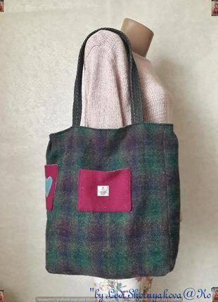 """Новая вместительная стильная сумка-шоппер с плотной ткани """"сердечко"""""""