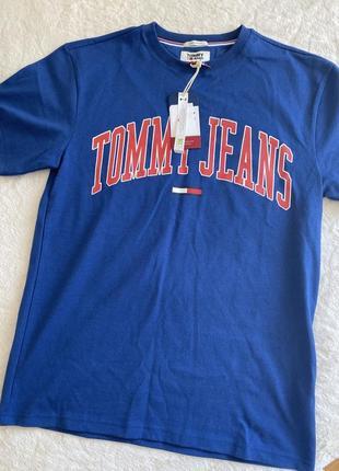 Новая синяя футболка оверсайз tommy hilfiger размер s