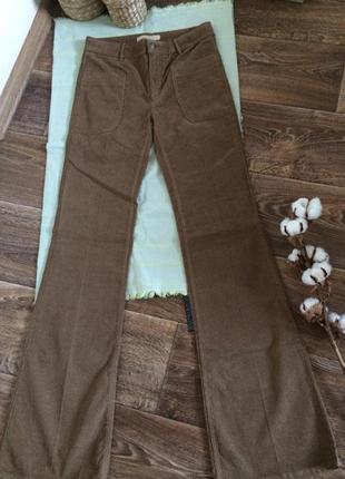 Вельветовые брюки клеш zara