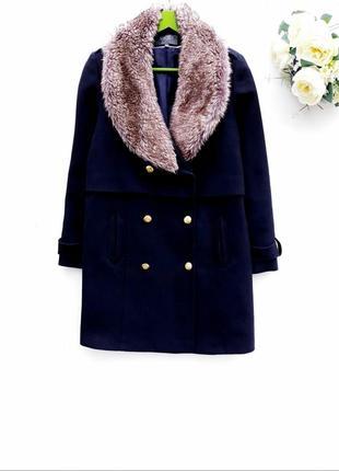 Бомбезное пальто с мехом стильное пальто демисезон с лимитированой коллекции