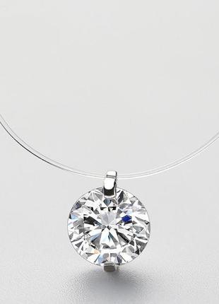 Ожерелье с подвеской из чистого стерлингового серебра