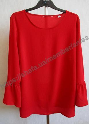 Стильная блуза рукава-воланы tcm tchibo
