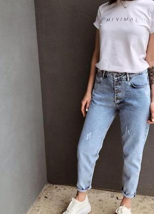 Джинсы мом джинсы высокая посадка джинсы mom