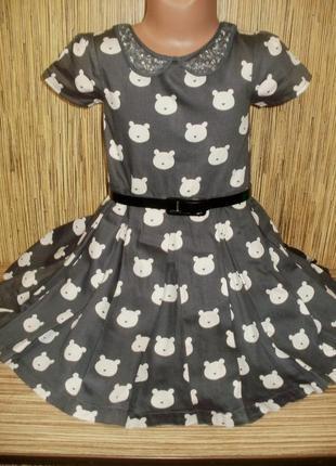 Нарядное платье m&s на 4-5 лет