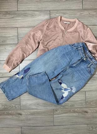 Круті джинси з нашивками розмір - l