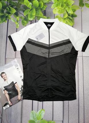 Велосипедная футболка облегающего кроя на молнии лето полиэстер