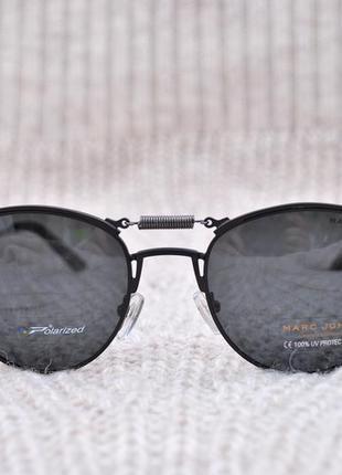 Фирменные солнцезащитные круглые очки marc john polarized mj0743 стимпанк с пружиной4 фото