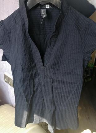 Рубашка (блуза) рр 36 черная и темно-синяя