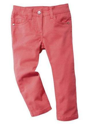 Коралловые джинсы slim на девочку, lupilu