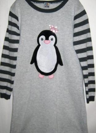 Трикотажное вязаное платье пингви англия