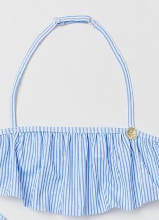 Лиф,топ вверх от купальнка для девочки голубой 134 (8-9лет) h&m