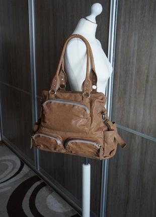 Liebeskind berlin вместительная сумка из натур.кожи.