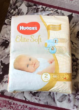 Памперси huggies elite soft 2