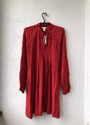 Червоне міні плаття / сукня h&m - 34 нове з біркою